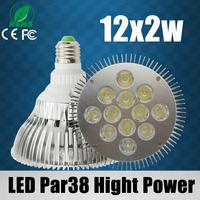 1pcs Latest design! par 38 High Power led spotlight 18X2W/15X2W/12X2W led PAR Light E27 LED Lamps 120 Degree 110-240V LED Bulbs