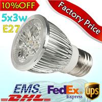 5pcs/lot Hot Sale E27 Energy-efficient 5X3W Cool White/Warm White LED Spot Lights Bulbs Lamp 110V-240V