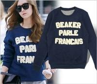2014 new models wild letters with Jessica FX patch fleece sweater women exohoodie bts emoji jacket