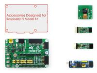 Expansion Board for Raspberry Pi Model B+,  Camera + PCF8591 AD DA Board + L3G4200D + LSM303DLHC