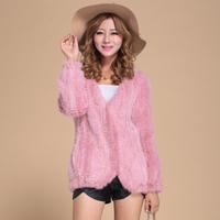 EMS Free Shipping 100% Reak European Mink Fur Knitted Coat,  Mink outerwear, Naural Mink Fur Jacket SU-14074