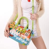 braccialini bag 2014 summer color block one shoulder handbag cross-body women's handbag bag