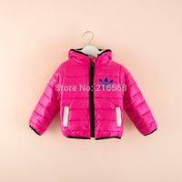 Winter classic brand down-filled jacket children's wear cotton-padded jacket warm cotton-padded jacket children boys girls coat