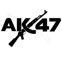 Car Sticker  AK47 motorcycle waterproof stickers outdoor decal reflective stickers