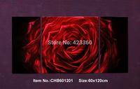 "Huge24.5""x48.5"" Original Metal Wall Art Modern Painting Sculpture Home Decor  ""Red Rose""   ,Set of 3"