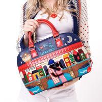 Fashion patchwork braccialini bag 2014 lovers design one shoulder handbag personality women's handbag bag