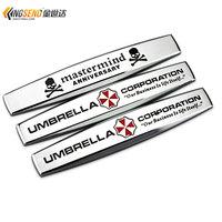 Car Fender Skull Emblem Body Stickers Decoration Stickers Metal Umbrella Car Stickers - 1PCS