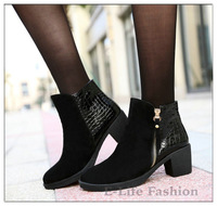 2014 New Arrival Anke Boots Martin Boots Genuine Leather Women Boots ,6cm High Heel Shoes Pumps HD-31