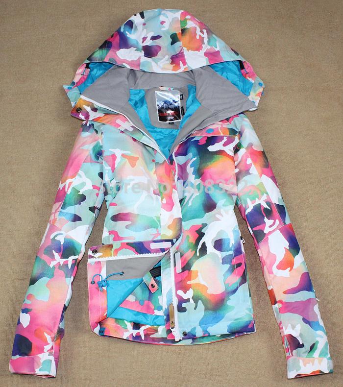 FREE SHIPPING,2014 NEW GSWJ-40 winter women cotton warm outdoor wear Snowboarding skiing jacke ,-30 degrees,ski jacket women(China (Mainland))