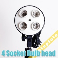 Photo Studio Light Bulb Lamp Holder with 4 x E27 Socket Free Shipping PSCSB2