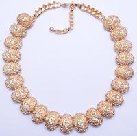 2014 New Arrival Fashion ZA Statement Good Quality Crystal Big Clain Vintage Collar Choker Luxury Shourouk Jewelry 9170
