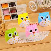 12pcs/lot Mini Cute Animal Colorful Owl Pencil Sharpener Stationery School Stuff Office Funny Supplies Desktop Gadgets 4.5*4cm