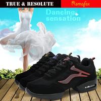 Mezlito Romafox Women Dance Shoe Sports Feature Soft Outsole Breath Sneakers For Woman Practice Shoes Modern Dance Jazz Shoes