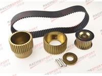 """12A 13B 20B 15mm RX7 FD FC RX3 Gilmer Drive Pulley Kit 1.5"""" notch belt Titanium"""