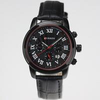 Curren Watches Men Sports Watches Waterproof Men Quartz Casual Clock Leather Strap Military Watch Relogio Masculino