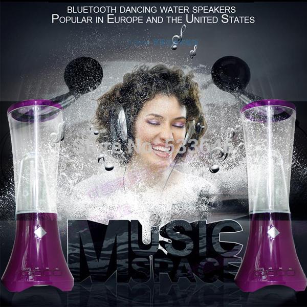 Free shipping new style USB Water Spray Mini Water Speaker Music Fountain USB Water Spray Speakers music fountain speaker high(China (Mainland))