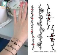 New Fashion Body Art Temporary Removable Gothic wrist of rattan flower  Tattoo Stickers Waterproof environmental body tattoo