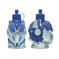 New 2014 Hot! 3D Optimus / bumblebee Transformers thermal mug Kettle / stainless steel Vacuum Insulated thermos flask 600ml