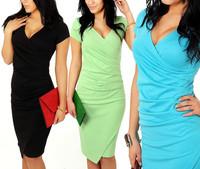 vestidos de verao femininos 2014 sexy women summer dress casual office clothing new fashion mulheres work roupas black red K16