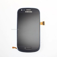 Blue Samsung S3 Mini GT-i8190 LCD Display Touchscreen Digitizer Glass +Frame