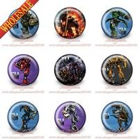 90Pcs Hot Cartoon  Tin Button Pin Badges,30MM,Round Brooch Badge,Mixed 9 models,Party Favors