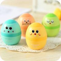 12pcs/lot Desktop Gadgets Mini Cute Cartoon Egg Pencil Sharpener School Office Funny Supplies Toys For Children Wholesale