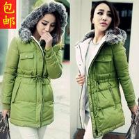 2014 coat women winter coat new factory direct ordering Slim Down jacket Long fur collar parka womens
