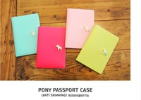 2014 women  fashion travel case horse passport coverages credit card & id holders,solid pu leather package for documents