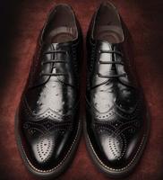 Genuine leather Men dress shoes, black oxford shoes for men,autumn men leather shoes 2014
