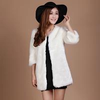 Free shipping 2014 faux fur winter coat fashion design women short outerwear 6 colors