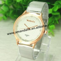 100pcs/lot,Fashion Lovers' Womage Steel Watches Charm Reticularis Watchband Watches Hot Rhinestone Quartz Dress WristWatch
