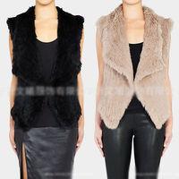 2014 New Faux Rabbit Fur Winter Warm Women Vest Waistcoat Gilet Sleeveless Jacket Coat Outfit S-XXXL Plus Size Free shipping
