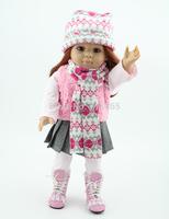 18'' Reborn Baby dolls full handmade AMERICAN GIRL reborn silicone vinyl newborn baby doll baby toys soft girls gift bjd doll