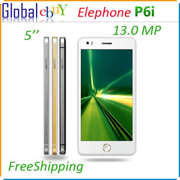Original Elephone P6i 5.0 Inch MTK6582 QuadCore 1.3GHz 1GB RAM 4GB ROM Android 4.4 SmartPhone 13.0MP Back Camera 3G WCDMA OTG AD(China (Mainland))