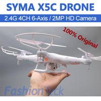 100% Original SYMA X5C HD Camera Original Box Upgrade Version 4CH 6Axis Remote Control FPV RC Helicopter Quadcopter Toy Ar.Drone