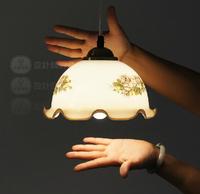 Lamp fashion vintage nostalgic bar counter roll-up hem goldfish bowl pendant light