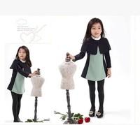 (5 pcs/lot)wholesale children's clothing wholesale Korean shawl girls dress L--7018