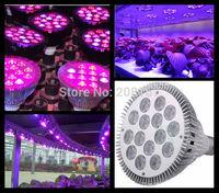 60Pcs/lot 18W grow led light bulbs for growing plants red15pcs,blue3pcs par led grow light bulb D306