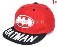 6-12 Years Children Baseball Hats Boys Girls Batman Embroidery Baseball Hat Cotton hats Kids Accessories Free Shippnig 1pc H562