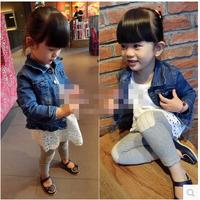 (5 pcs/lot)wholesale children's clothing wholesale girls fall paragraph denim jacket Y916