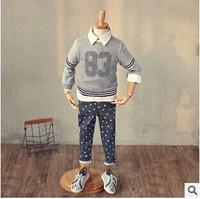 (5 pcs/lot)wholesale children's clothing wholesale boy autumn hollow sweater Y910