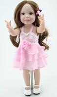 New Full Vinyl American 18 Inches  Baby Girl Dolls For Kid Handmade Realistic Kids HobbiesGirls Doll Children Toys