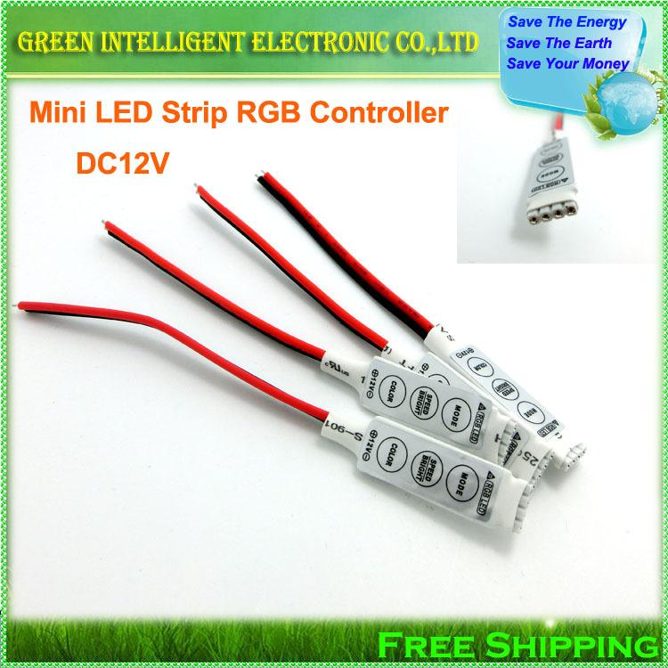 DC 12V Mini 3keys LED RGB Controller For 3528 5050 SMD LED Strip Light , Speed & Color & Brightness Controlling(China (Mainland))