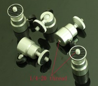 5pcs Mini Ball Head 1/4 thread with Lock for flash bracket and camera and tripod