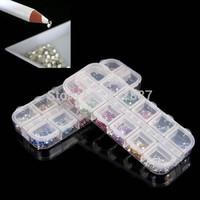 Wholesale Hot 6000pcs Flat Backed Acrylic Rhinestone Crystal Beads Nail Art Decoations Free Picker Pencil Pen Tools Set
