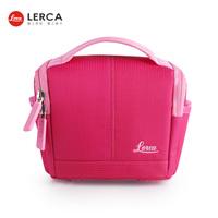 LERCA Pink Women Digital Camera Shoulder Handle Bag Case for Canon Nikon Olympus Fujifilm Leica Pentax Panasonic Cameras