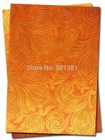 1set/lot, African Sego Headtie Gele & Ipele 2pcs in1bag, 1bag/lot, D/N 0071  Orange