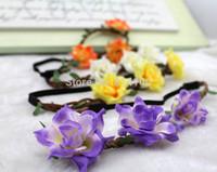 free shipping fashion flower headbands hairband beach seaside holiday tree braids braided hair band leaves Thai Orchid Bohemia
