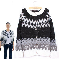 2014 New Winter Women Knitted Coat Fashion Pattern Women's Cardigan Sweater Loose Coat
