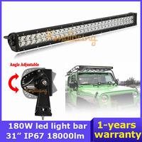 ATV 12V/24V off-road lamp Pickup car SUV Wagon AWD 18000lm Epistar LED Work Light bar 4x4 Flood Spot Beam combo 60x3W 180W 4WD
